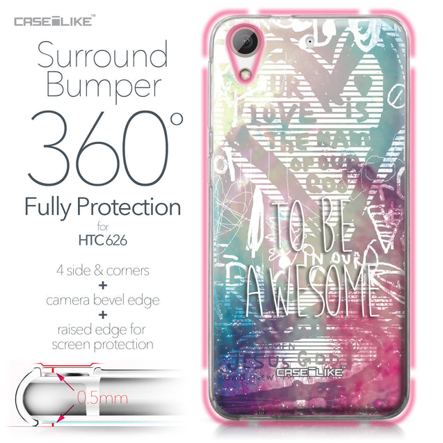 HTC Desire 626 case Graffiti 2726 Bumper Case Protection | CASEiLIKE.com