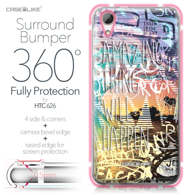 HTC Desire 626 case Graffiti 2729 Bumper Case Protection | CASEiLIKE.com