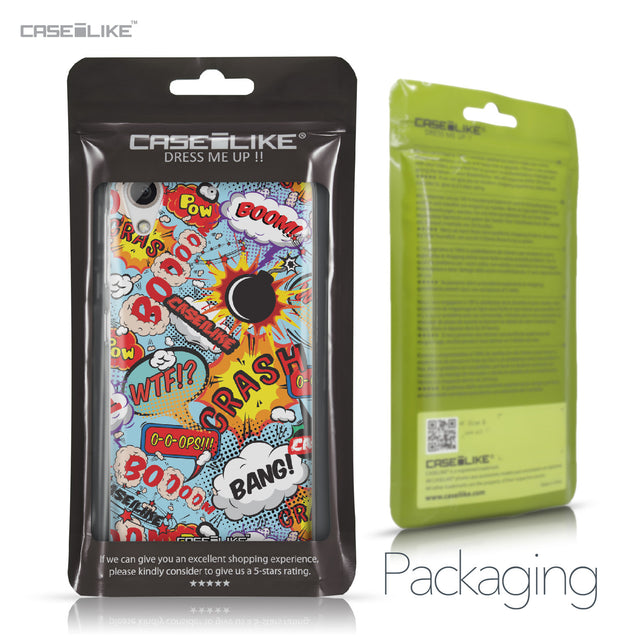 HTC Desire 626 case Comic Captions Blue 2913 Retail Packaging | CASEiLIKE.com