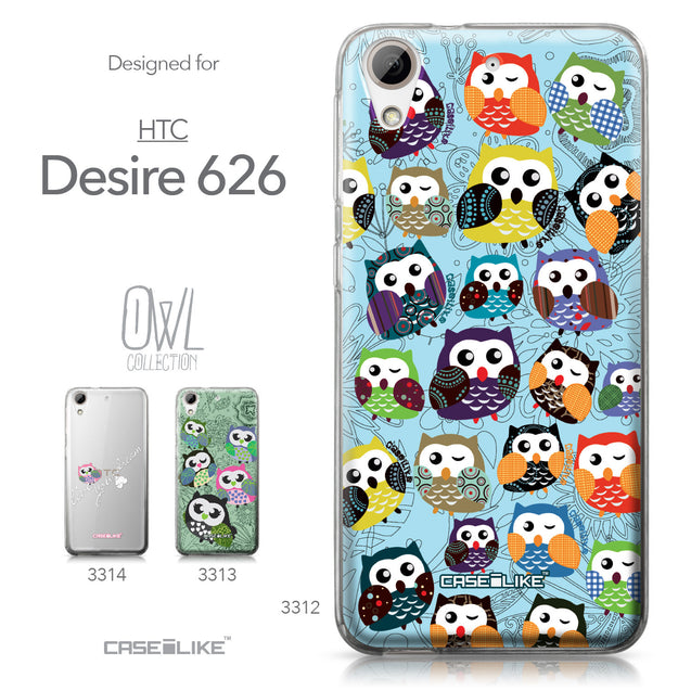 HTC Desire 626 case Owl Graphic Design 3312 Collection | CASEiLIKE.com