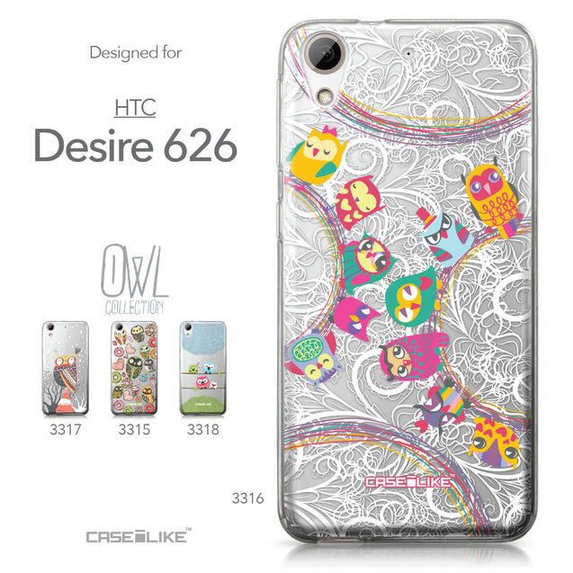 HTC Desire 626 case Owl Graphic Design 3316 Collection | CASEiLIKE.com