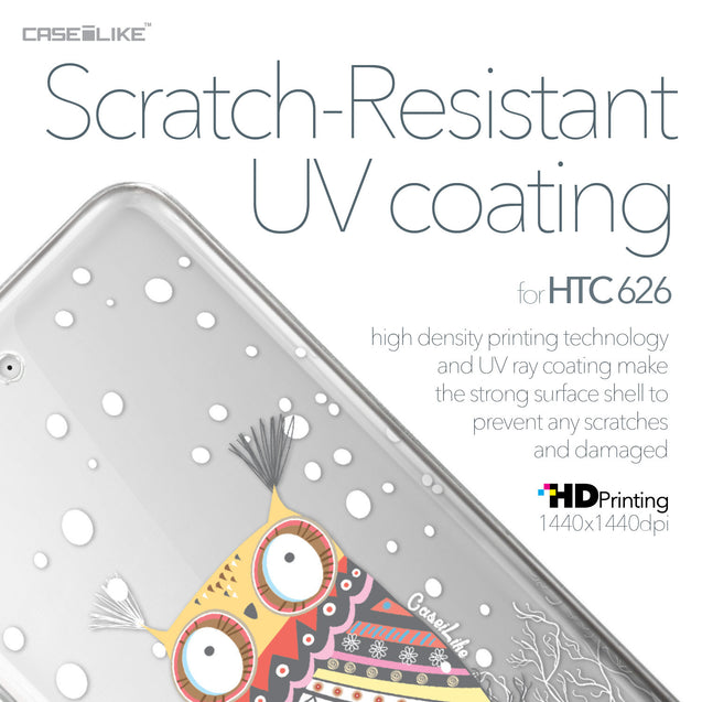 HTC Desire 626 case Owl Graphic Design 3317 with UV-Coating Scratch-Resistant Case | CASEiLIKE.com