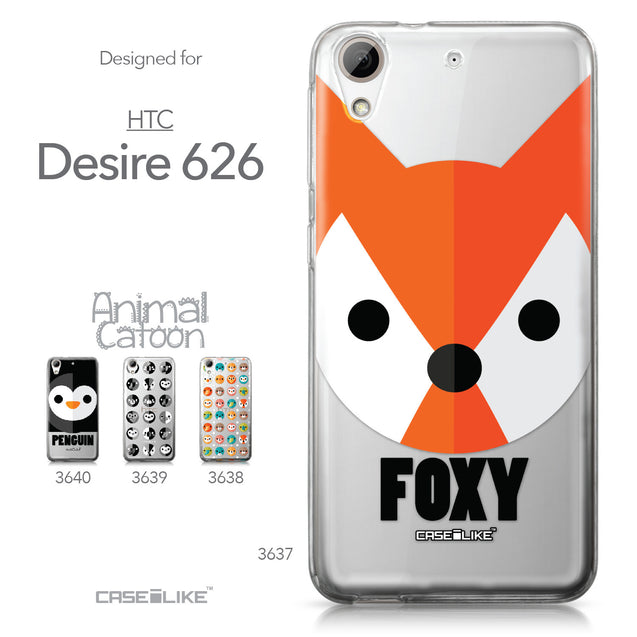 HTC Desire 626 case Animal Cartoon 3637 Collection | CASEiLIKE.com