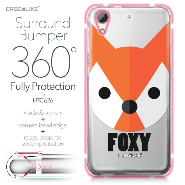 HTC Desire 626 case Animal Cartoon 3637 Bumper Case Protection | CASEiLIKE.com
