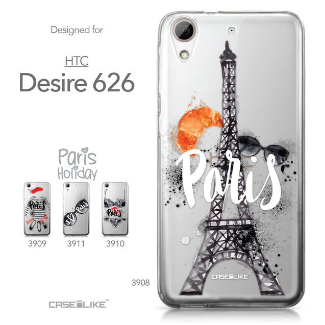 HTC Desire 626 case Paris Holiday 3908 Collection | CASEiLIKE.com