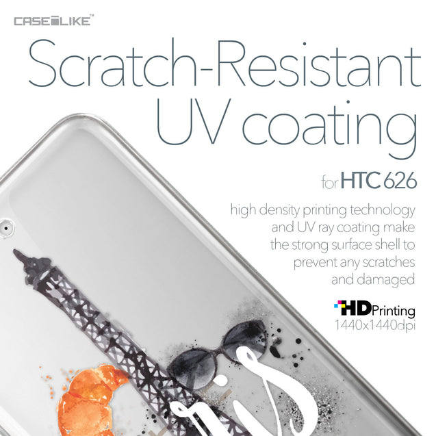 HTC Desire 626 case Paris Holiday 3908 with UV-Coating Scratch-Resistant Case | CASEiLIKE.com