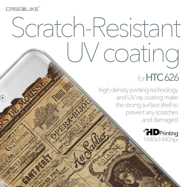 HTC Desire 626 case Vintage Newspaper Advertising 4819 with UV-Coating Scratch-Resistant Case | CASEiLIKE.com