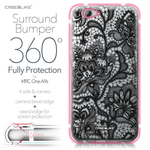 HTC One A9s case Lace 2037 Bumper Case Protection | CASEiLIKE.com