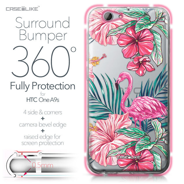 HTC One A9s case Tropical Flamingo 2239 Bumper Case Protection | CASEiLIKE.com