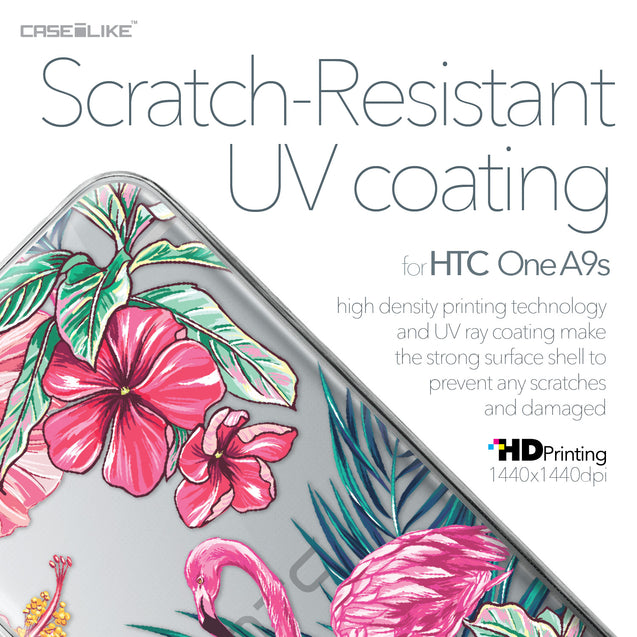 HTC One A9s case Tropical Flamingo 2239 with UV-Coating Scratch-Resistant Case | CASEiLIKE.com
