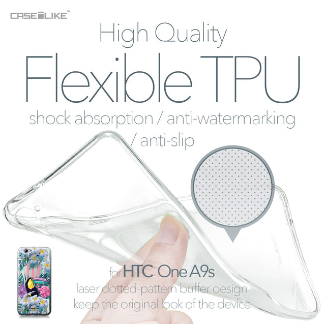 HTC One A9s case Tropical Floral 2240 Soft Gel Silicone Case | CASEiLIKE.com