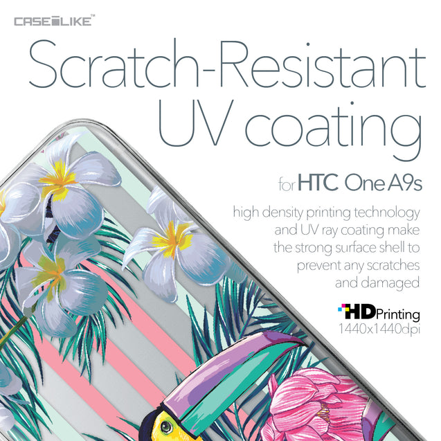 HTC One A9s case Tropical Floral 2240 with UV-Coating Scratch-Resistant Case | CASEiLIKE.com