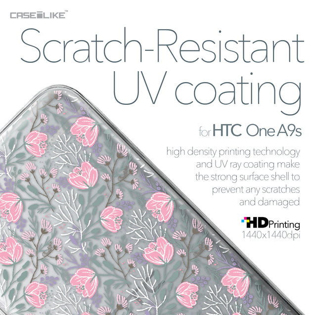 HTC One A9s case Flowers Herbs 2246 with UV-Coating Scratch-Resistant Case | CASEiLIKE.com