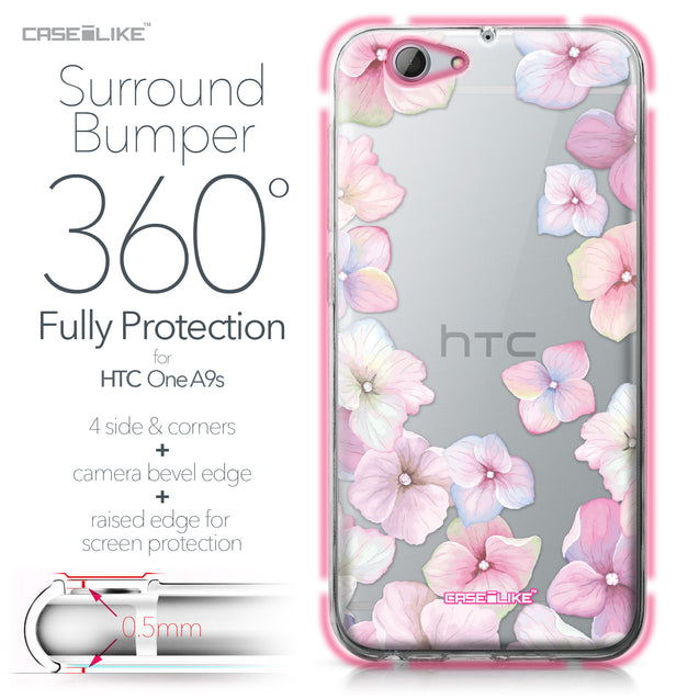 HTC One A9s case Hydrangea 2257 Bumper Case Protection | CASEiLIKE.com