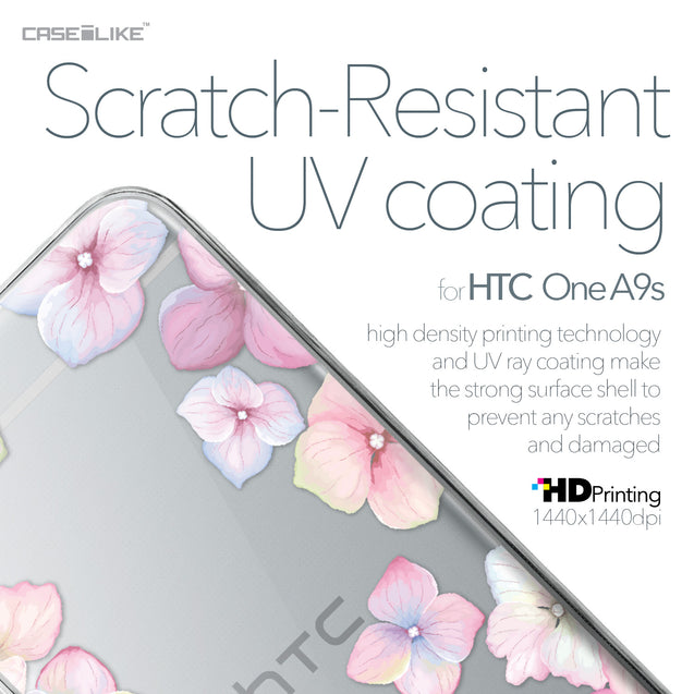 HTC One A9s case Hydrangea 2257 with UV-Coating Scratch-Resistant Case | CASEiLIKE.com