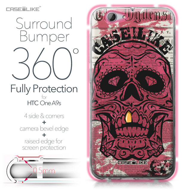 HTC One A9s case Art of Skull 2523 Bumper Case Protection | CASEiLIKE.com
