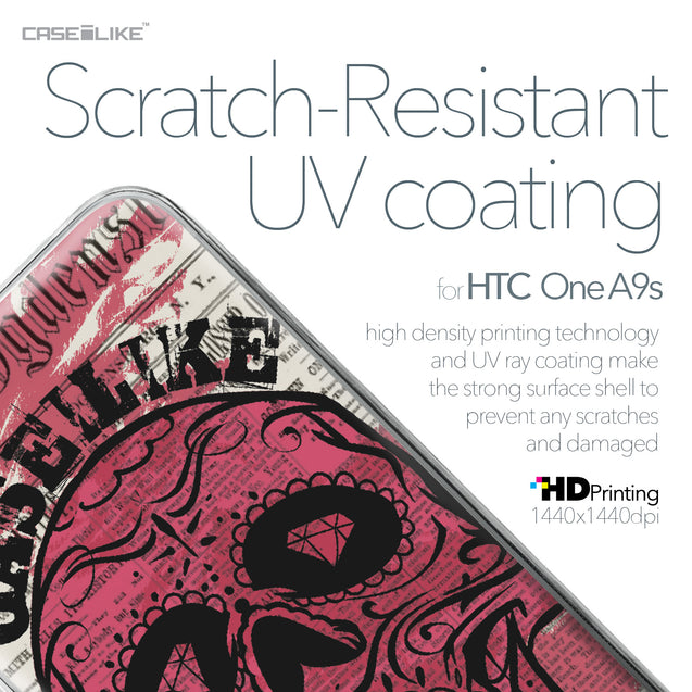 HTC One A9s case Art of Skull 2523 with UV-Coating Scratch-Resistant Case | CASEiLIKE.com