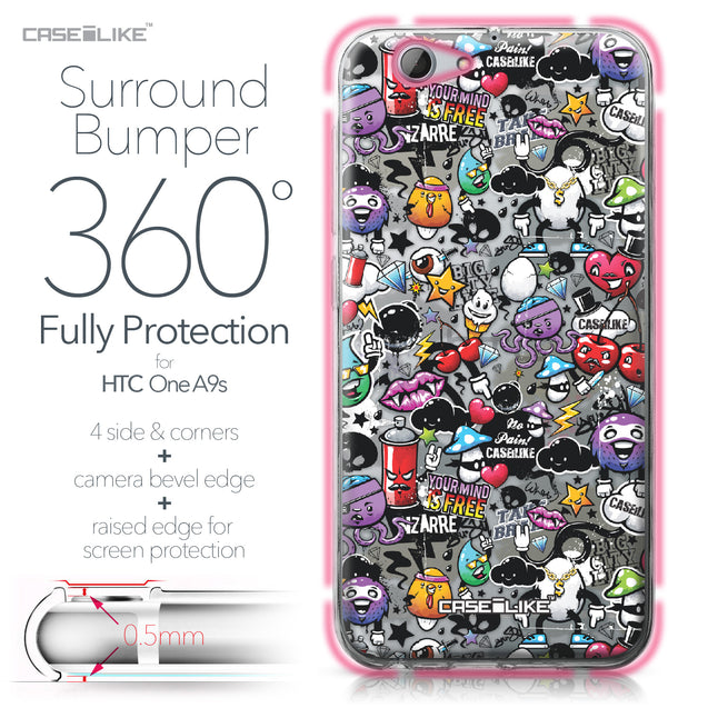 HTC One A9s case Graffiti 2703 Bumper Case Protection | CASEiLIKE.com