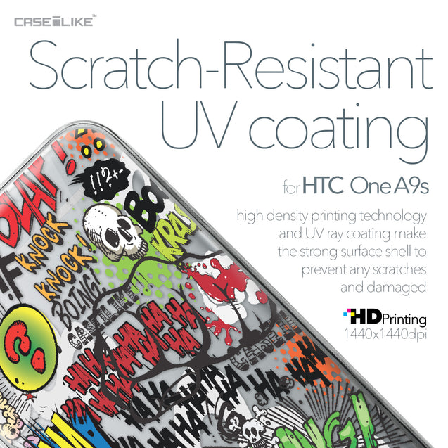 HTC One A9s case Comic Captions 2914 with UV-Coating Scratch-Resistant Case | CASEiLIKE.com