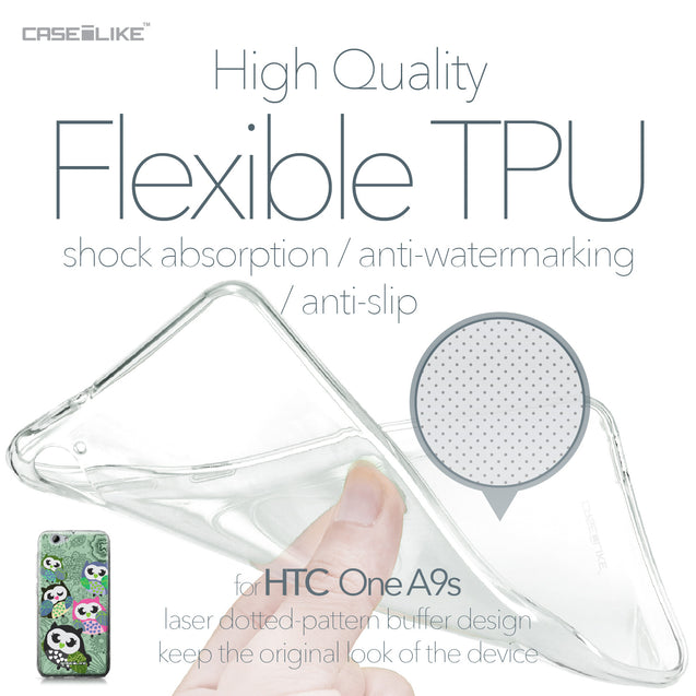HTC One A9s case Owl Graphic Design 3313 Soft Gel Silicone Case | CASEiLIKE.com