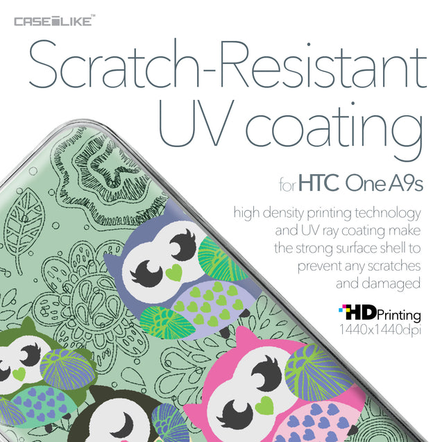 HTC One A9s case Owl Graphic Design 3313 with UV-Coating Scratch-Resistant Case | CASEiLIKE.com