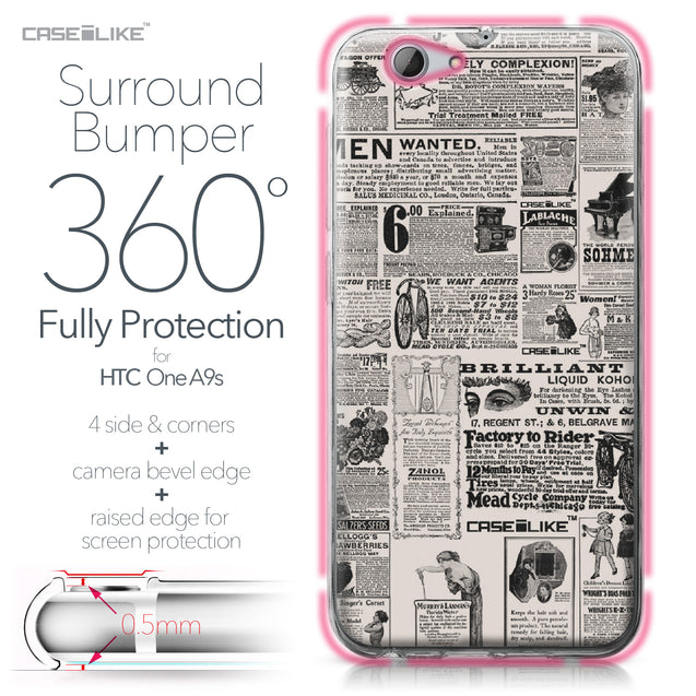 HTC One A9s case Vintage Newspaper Advertising 4818 Bumper Case Protection | CASEiLIKE.com