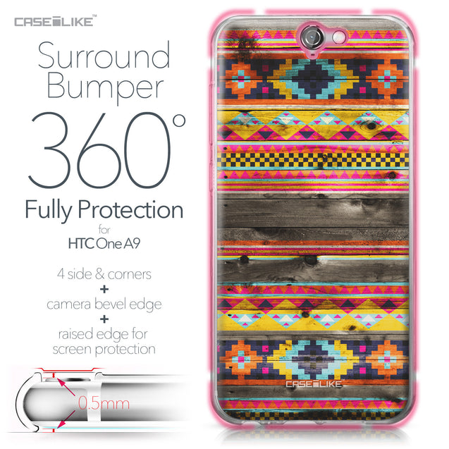 HTC One A9 case Indian Tribal Theme Pattern 2048 Bumper Case Protection | CASEiLIKE.com