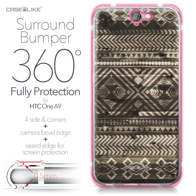 HTC One A9 case Indian Tribal Theme Pattern 2050 Bumper Case Protection | CASEiLIKE.com
