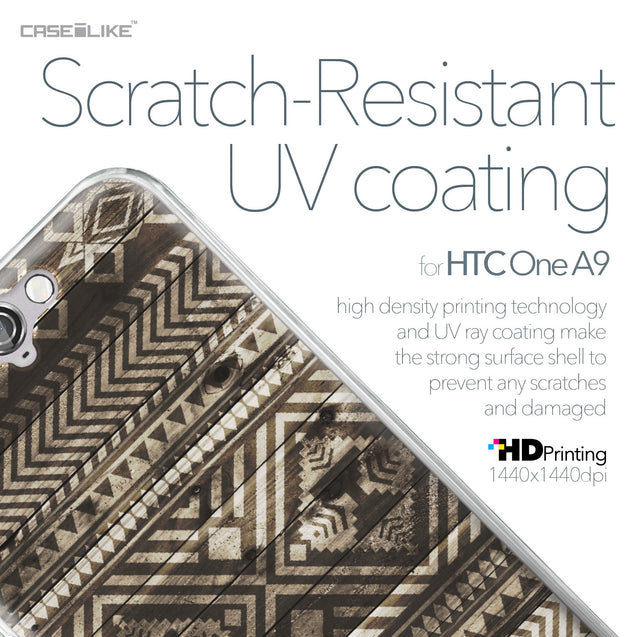 HTC One A9 case Indian Tribal Theme Pattern 2050 with UV-Coating Scratch-Resistant Case | CASEiLIKE.com