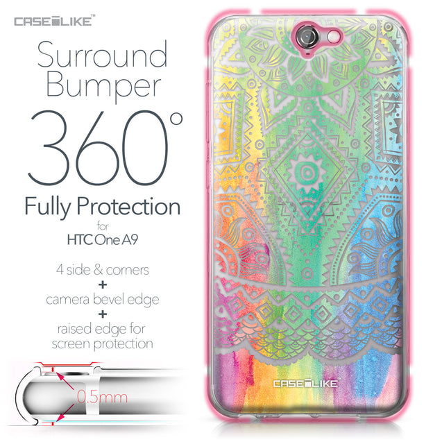 HTC One A9 case Indian Line Art 2064 Bumper Case Protection | CASEiLIKE.com