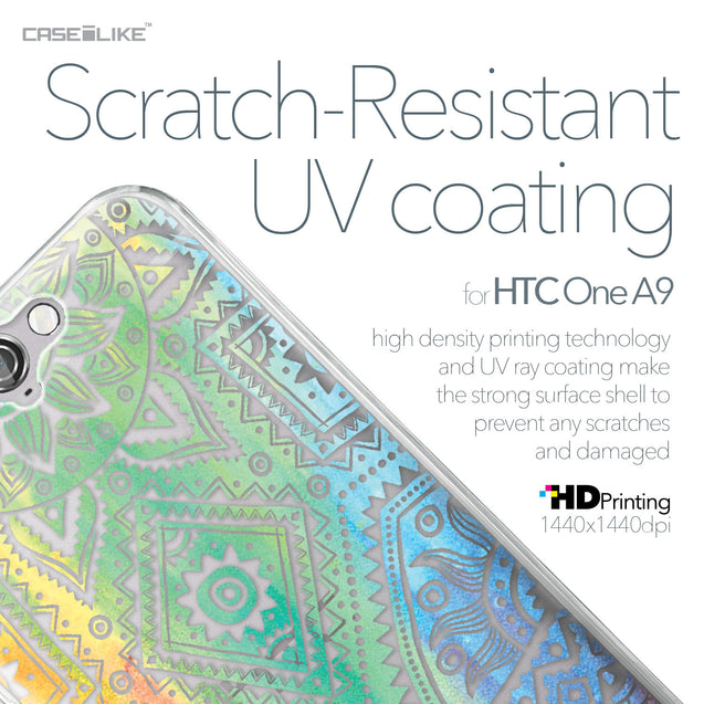 HTC One A9 case Indian Line Art 2064 with UV-Coating Scratch-Resistant Case | CASEiLIKE.com