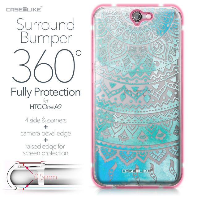 HTC One A9 case Indian Line Art 2066 Bumper Case Protection | CASEiLIKE.com