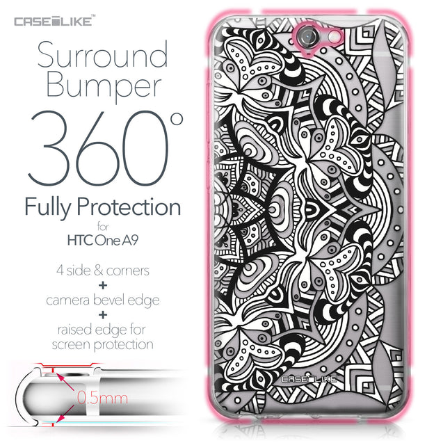 HTC One A9 case Mandala Art 2096 Bumper Case Protection | CASEiLIKE.com