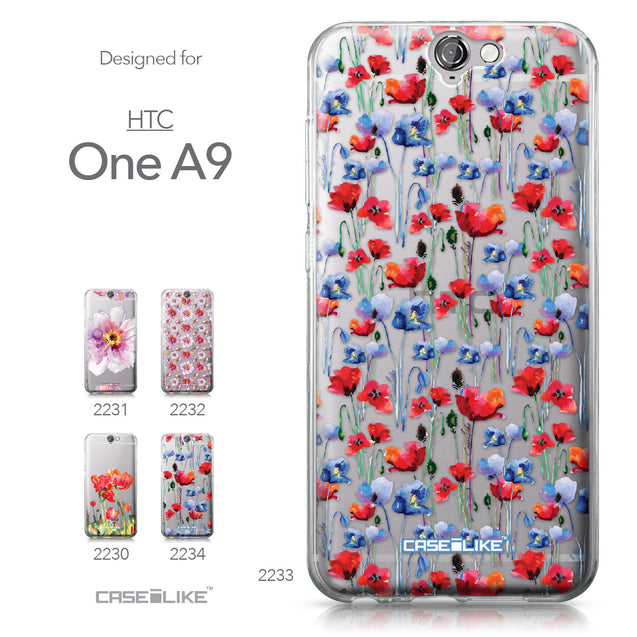 HTC One A9 case Watercolor Floral 2233 Collection | CASEiLIKE.com