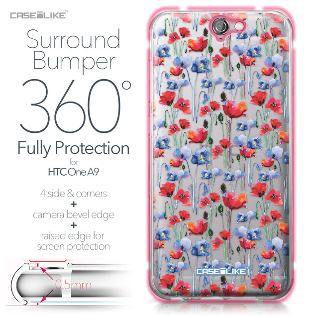 HTC One A9 case Watercolor Floral 2233 Bumper Case Protection | CASEiLIKE.com