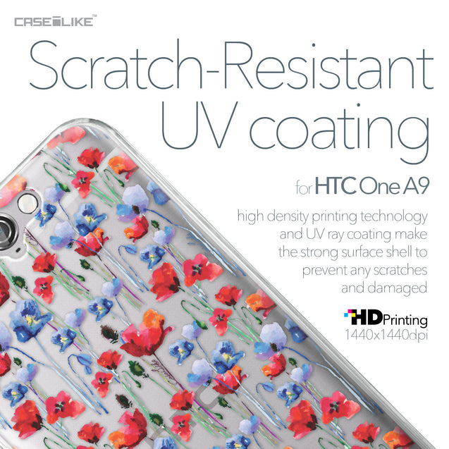 HTC One A9 case Watercolor Floral 2233 with UV-Coating Scratch-Resistant Case | CASEiLIKE.com