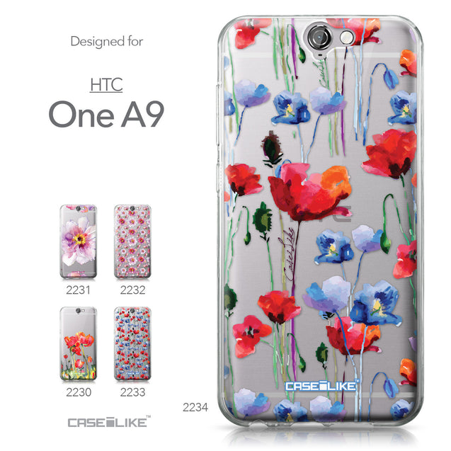 HTC One A9 case Watercolor Floral 2234 Collection | CASEiLIKE.com