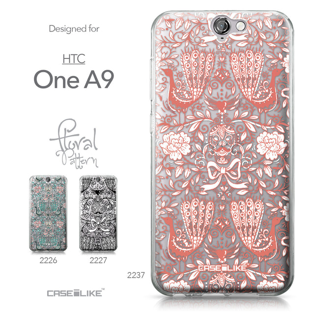 HTC One A9 case Roses Ornamental Skulls Peacocks 2237 Collection | CASEiLIKE.com