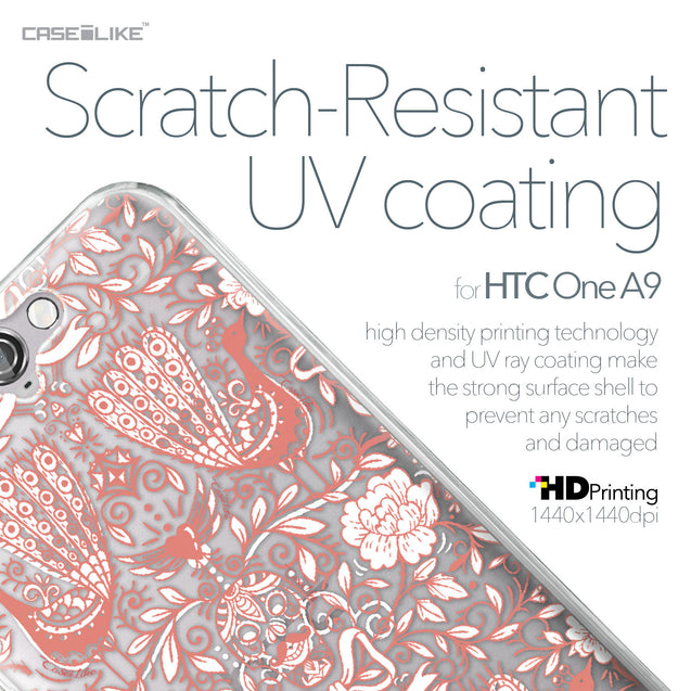 HTC One A9 case Roses Ornamental Skulls Peacocks 2237 with UV-Coating Scratch-Resistant Case | CASEiLIKE.com