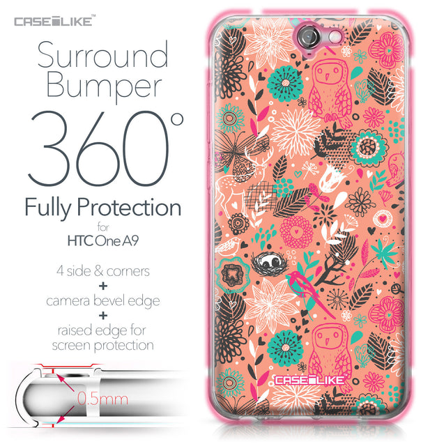 HTC One A9 case Spring Forest Pink 2242 Bumper Case Protection | CASEiLIKE.com