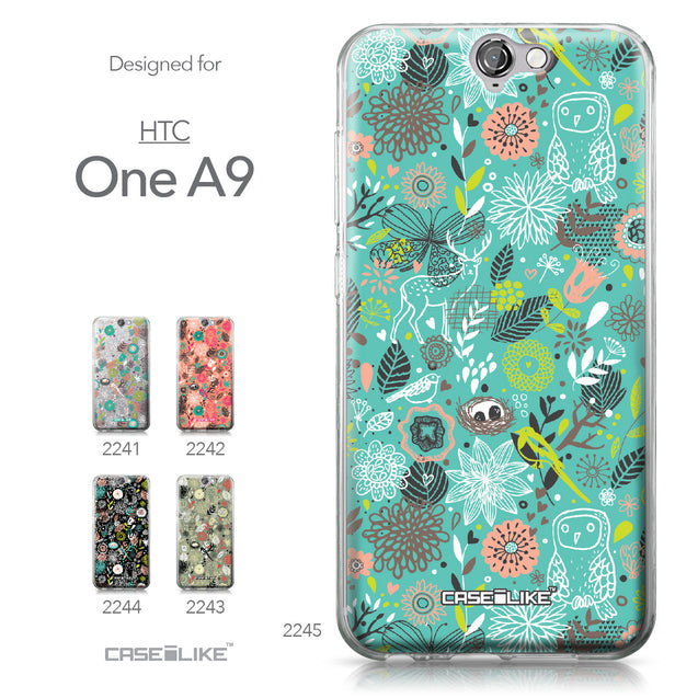 HTC One A9 case Spring Forest Turquoise 2245 Collection | CASEiLIKE.com