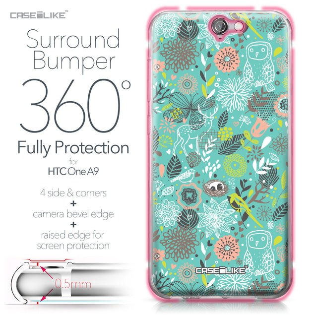 HTC One A9 case Spring Forest Turquoise 2245 Bumper Case Protection | CASEiLIKE.com