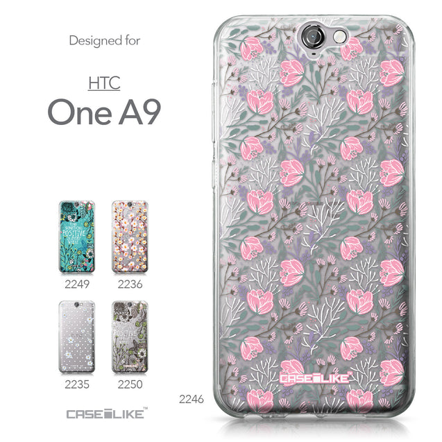 HTC One A9 case Flowers Herbs 2246 Collection | CASEiLIKE.com