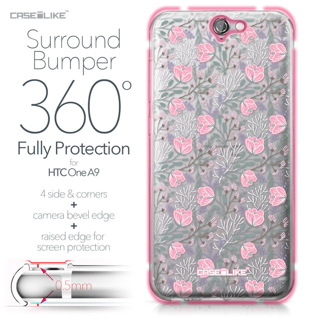 HTC One A9 case Flowers Herbs 2246 Bumper Case Protection | CASEiLIKE.com