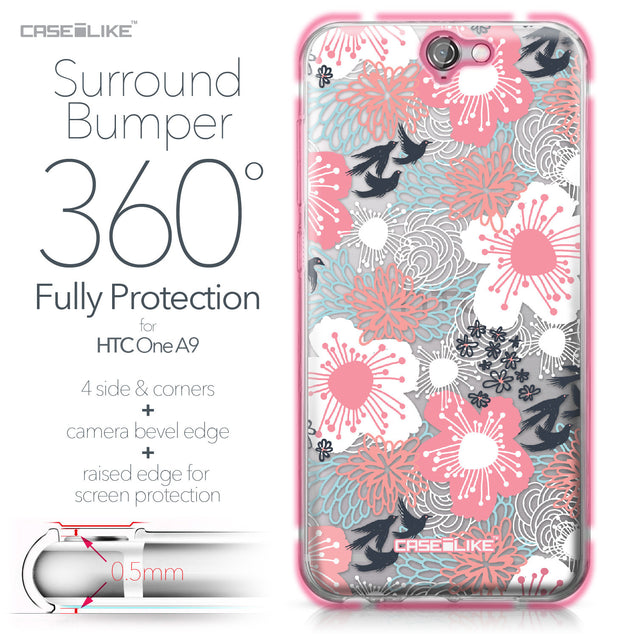 HTC One A9 case Japanese Floral 2255 Bumper Case Protection | CASEiLIKE.com