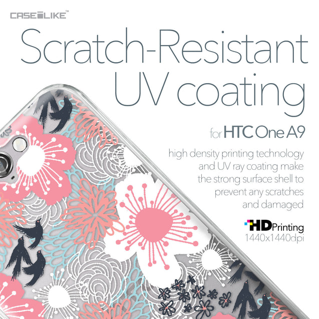 HTC One A9 case Japanese Floral 2255 with UV-Coating Scratch-Resistant Case | CASEiLIKE.com