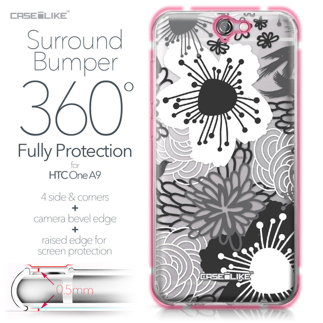 HTC One A9 case Japanese Floral 2256 Bumper Case Protection | CASEiLIKE.com