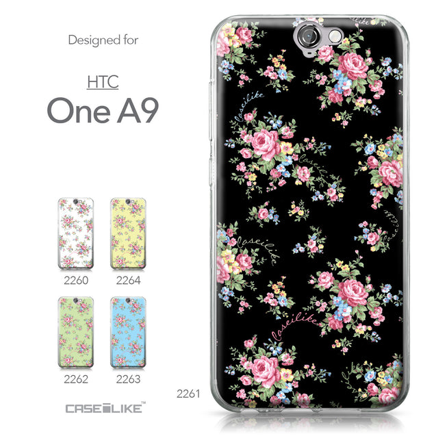 HTC One A9 case Floral Rose Classic 2261 Collection | CASEiLIKE.com