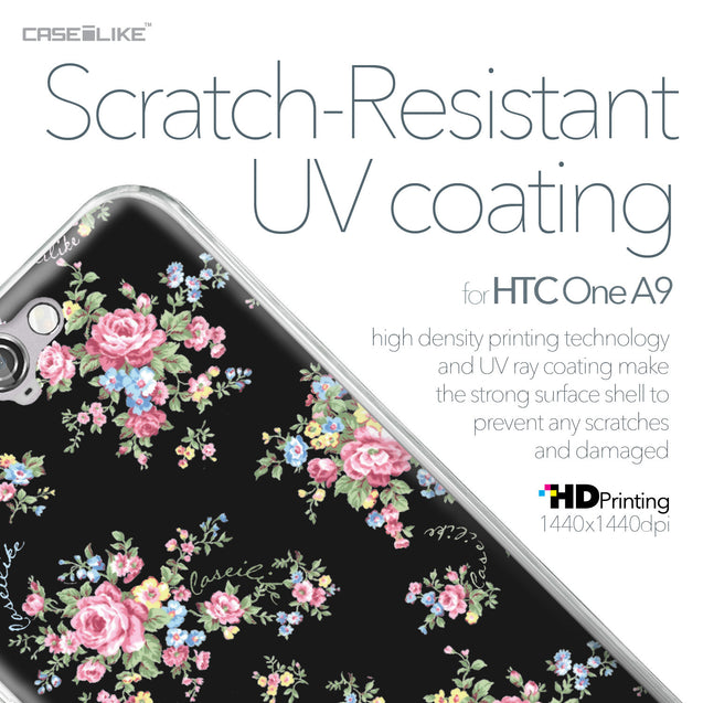HTC One A9 case Floral Rose Classic 2261 with UV-Coating Scratch-Resistant Case | CASEiLIKE.com