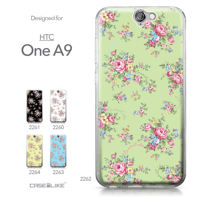 HTC One A9 case Floral Rose Classic 2262 Collection | CASEiLIKE.com